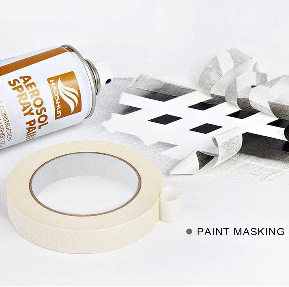 cinta de enmascarar para pintar 3 tama/ños cinta de pintura ancha decorar y hacer manualidades Gwolf Cinta de enmascarar 20//30//40 mm x 50 m cinta de rasgado f/ácil perfecta para pintar