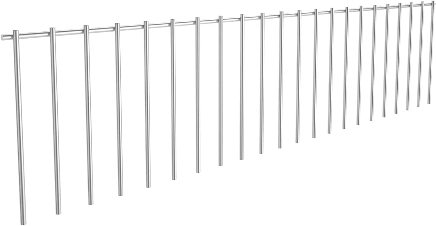 Doniks 4 Pack Dig Protection Animal Barrier Fence Underground Decorative Garden Fence 32inch x 10inch 4 Gauge Galvanized Steel Ground Stakes Defence for Outdoor Garden Yard Patio