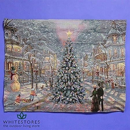Pre-Lit Tapestry of christmas scene
