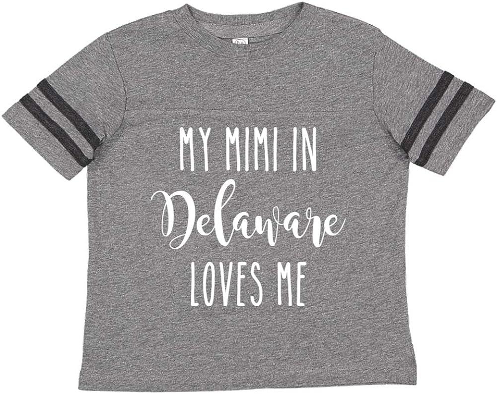 Toddler//Kids Sporty T-Shirt My Mimi in Delaware Loves Me