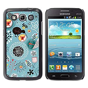 For Samsung Galaxy Win I8550 - Blue Kiwi Bird Floral Pattern /Modelo de la piel protectora de la cubierta del caso/ - Super Marley Shop -