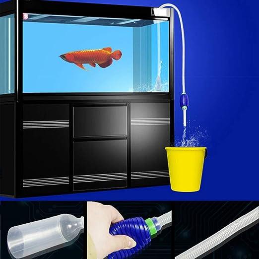 GerFogoo - Sifón manual de agua para acuario, sifón y bomba de mano: Amazon.es: Productos para mascotas