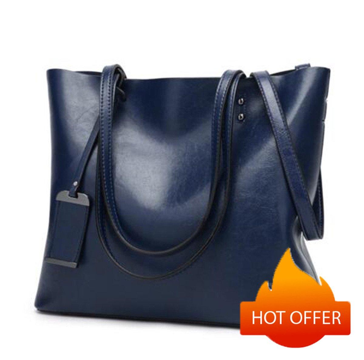 Women Shoulder Bags Zipper Handbags for Women Top Handle Bag Tote Bags by YUNS (Dark Blue)
