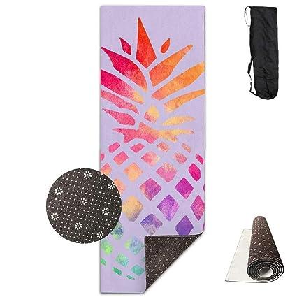 Amazon.com : Mouthdodo Yoga Mat Non Slip Color Pineapple ...