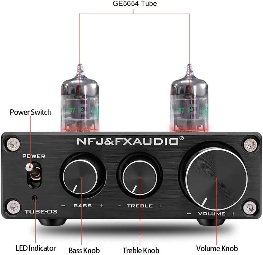 FX-AUDIO TUBE-03 Tube Preamp GE5654 Tube Hi-Fi Tube Preamplifier ...
