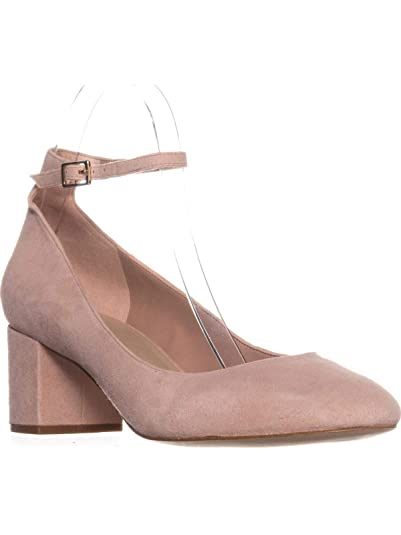 a1684e31880 ALDO Womens Clarisse Suede Closed Toe Ankle Strap Classic Platform Pumps  Shoes Light Pink 6.5