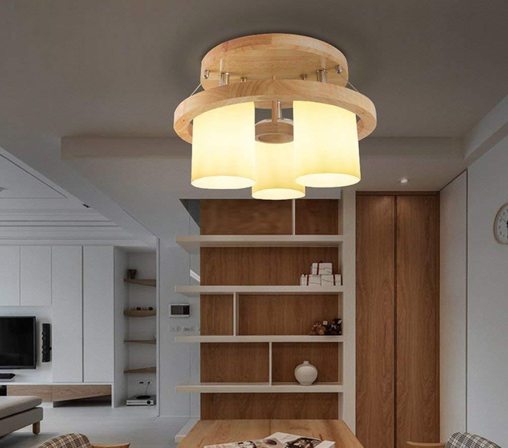 Haiyao シーリングライト、ホームリビングルームの寝室のシーリングライト、シーリングライト、シンプルなモダンなリビングルーム(ホットライティング&ロムベッドルーム)のリモコンライト読書灯LEDグリーンホールの天井 (Color : 3 Head) B07QQPXKDV 3 Head
