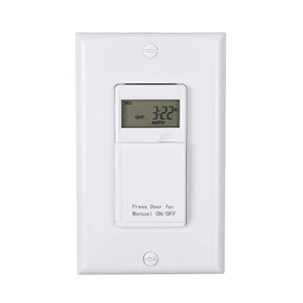 Century 7 Day Programmable InWall Timer Switch for Lights fans and