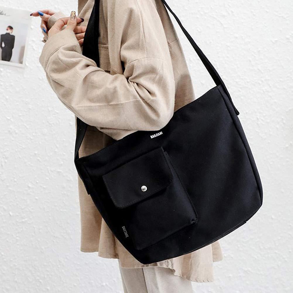 Ss-Lqlhy Women Large Capacity Canvas Messenger Single Shoulder Satchel Crossbody Bag