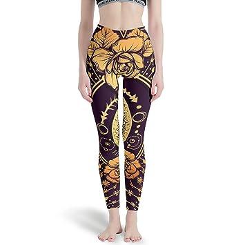 XJJ88 - Pantalones de Yoga con diseño de Luna, para Mujer ...