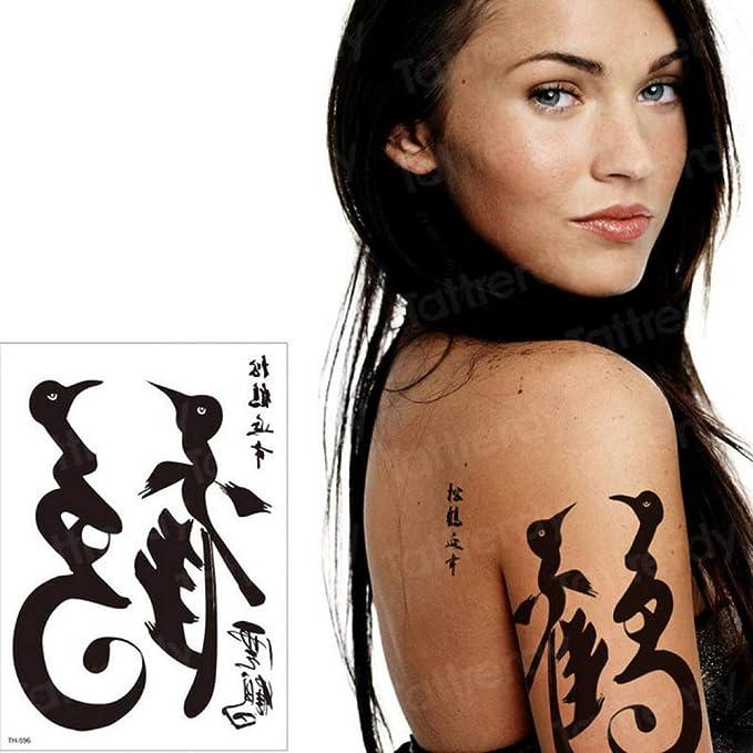 Handaxian 3pcs Tatuaje Manga del Brazo Negro caligrafía China ...