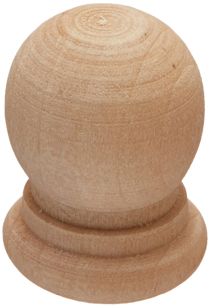 The New Image Group Wood Turning Shapes Ball Finials 6//Pkg .9375 X.25