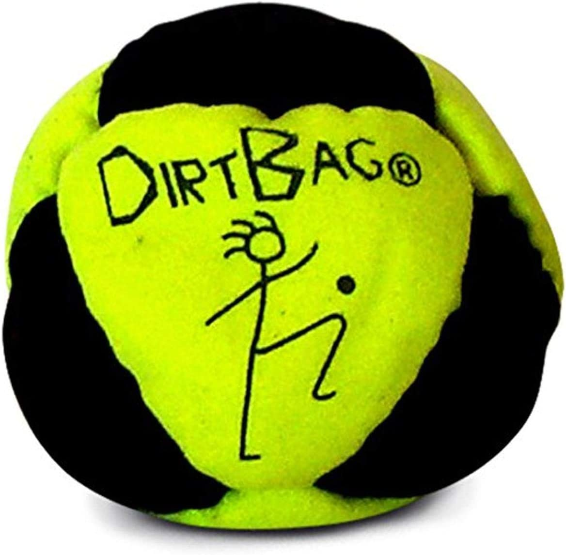 World Footbag Dirtbag Hacky Sack, Neon Yellow/Black
