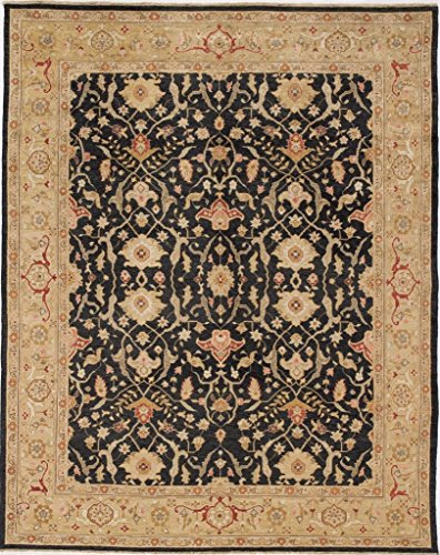 Due Process Stable Trading JIHTEHRBK0DGO1215 12 x 15 ft. Jinan Tehran Area Rug44; Black & Dark Gold from Due Process Stable Trading