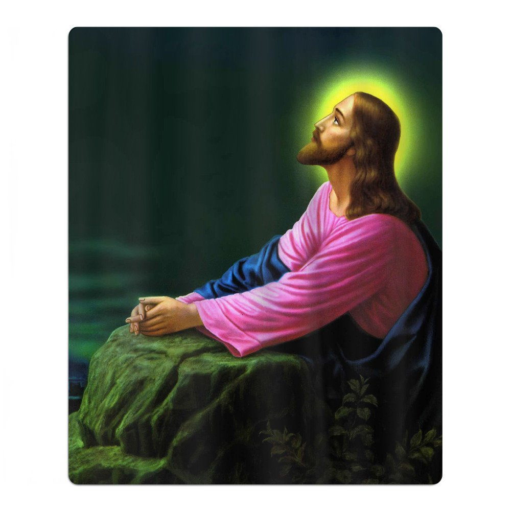 Jesus Christ Praying At Gethsemane Religious Christian 100% Polyester Childs Beach Towels Unisex Bath Towel