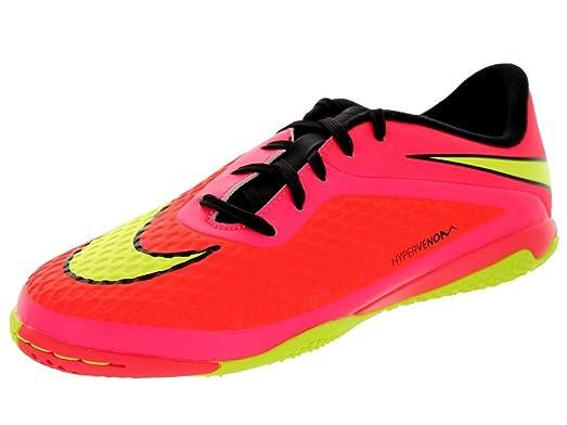 Nike Kids Jr Hypervenom Phelon IC Brght Crmsn/Vlt/Hypr Pnch/Blck Indoor