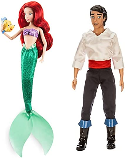 from Little Mermaid Disney Classic Princess Ariel Doll includes Flounder