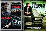 Lincoln Lawyer & The Town + Argo Drama Ben Affleck Movie Set Bundle