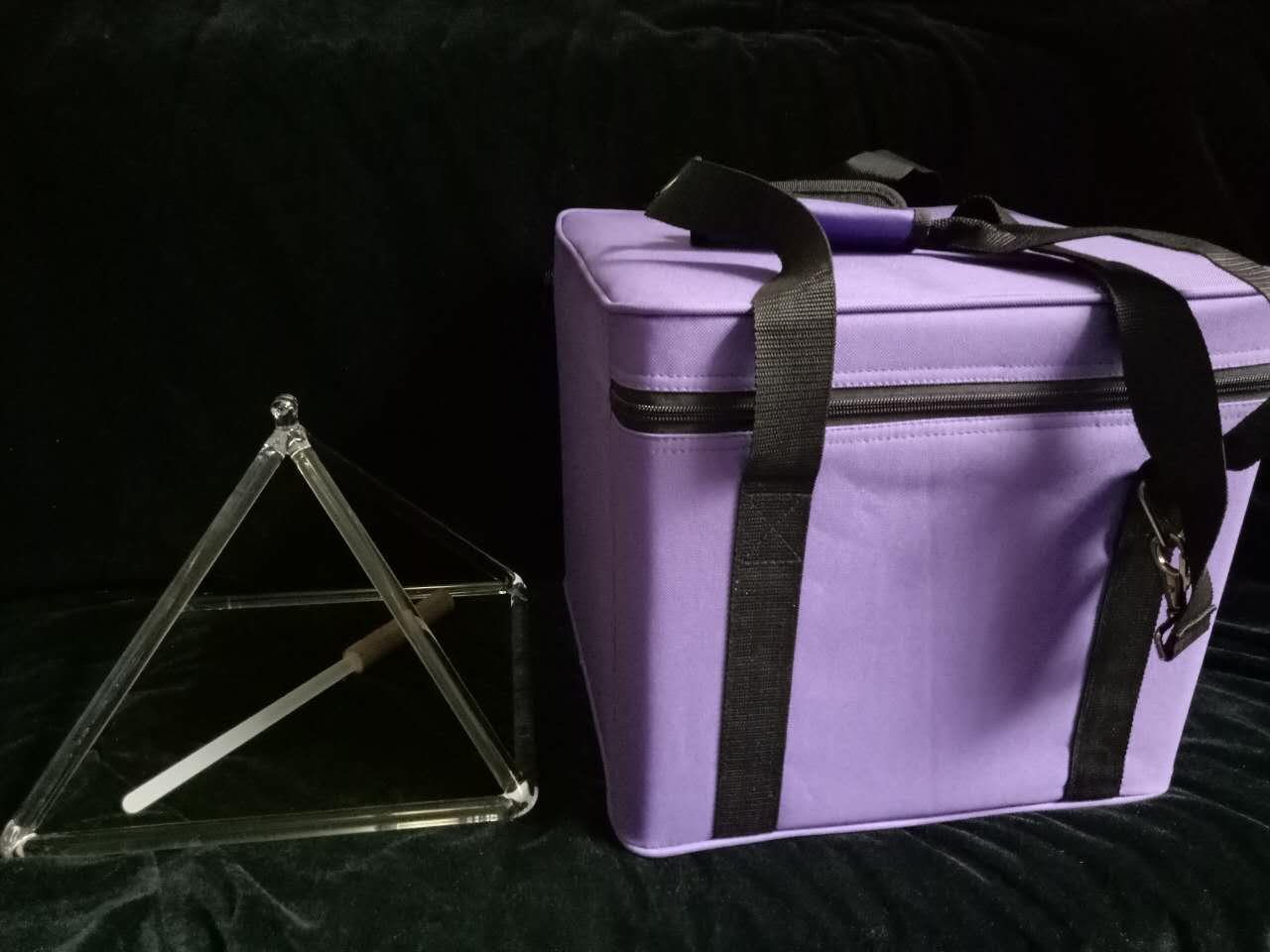 10 Carrying Crystal B07352NBZT Quartz Violet inch with free Striker 10 and Pyramid  Case Crystal Singing Color inch