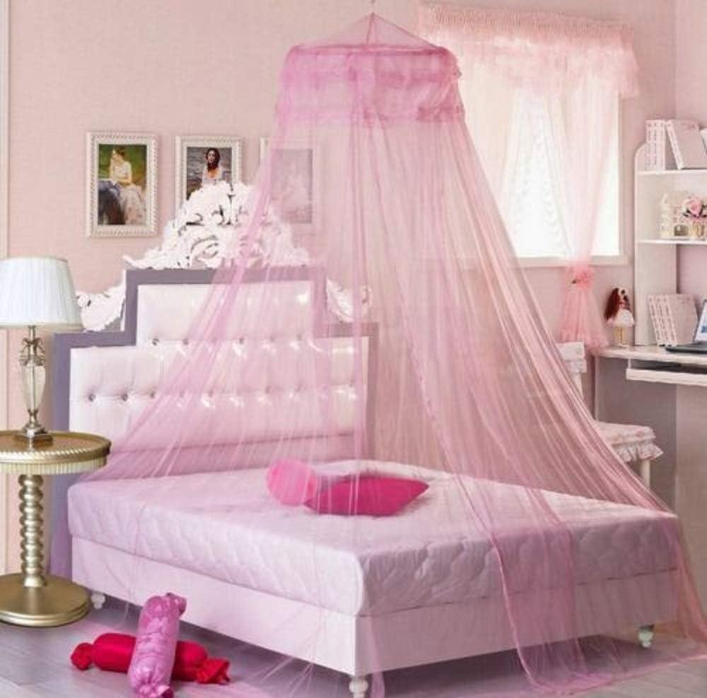 Color : Blue GJWYEYEYE Heisse Nette Baby-Prinzessin Canopy Krippe Netting Dome Bett Moskitonetz for Kindergarten