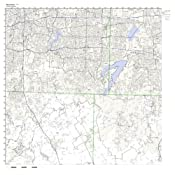 Mansfield Zip Code Map.Amazon Com Mansfield Tx Zip Code Map Laminated Home Kitchen