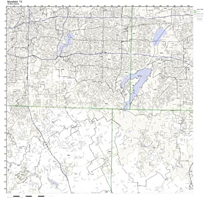 Mansfield Zip Code Map.Amazon Com Mansfield Tx Zip Code Map Not Laminated Home Kitchen