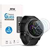 Screen Protector for Garmin Vivoactive 3, OOTSR (3 Pack) Full Coverage Tempered Glass Screen Protector for Garmin Vivoactive 3 [2.5D Round Edge] [9H Hardness] [Crystal Clear] [Anti-Scratch] [No-Bubble]