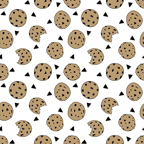 Cookies Fabric Cookies // Food Chocolate Chip Biscuits Kids Triangle Novelty Small Print by Andrea Lauren Printed on Basic Cotton Ultra Fabric by the Yard by Spoonflower (Cotton Print Novelty Fabric)