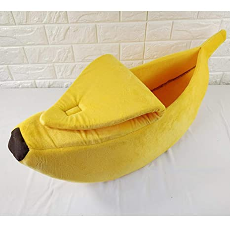 HAOHUI Banana Arena para Gatos Jaula Creativa En Forma De Plátano ...