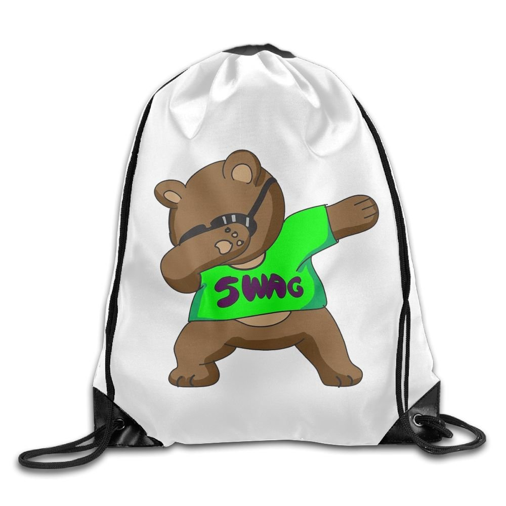 VIMUCIS Dabbing Bear Drawstring Backpack Rucksack Shoulder Bags Training Gym Sack For Man And Women
