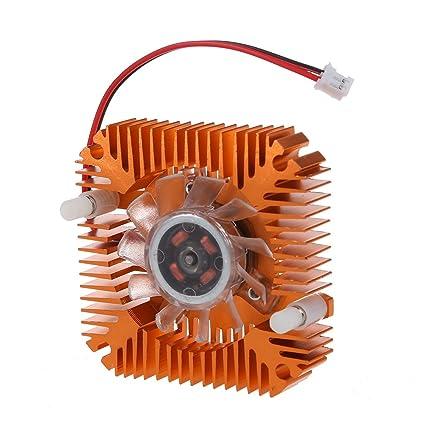 SODIAL(R)Disipador de ventilador enfriamiento enfriador 55mm Tarjeta de video VGA CPU de