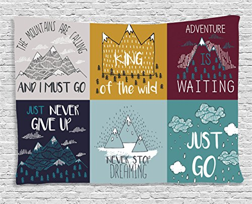 Ambesonne Quotes Decor Collection, Inspirational and Motivat