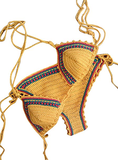 Yilianda Bikini Set Donne Halter Uncinetto Push Up Bikini Costumi Da