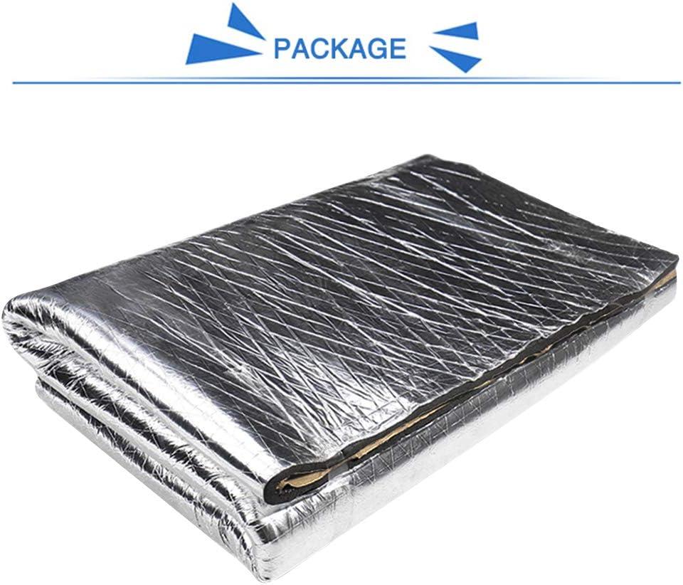 Sourcingmap 394mil 10.76sqft Car Fender Heat Sound Insulation Mat 40 x 40inch