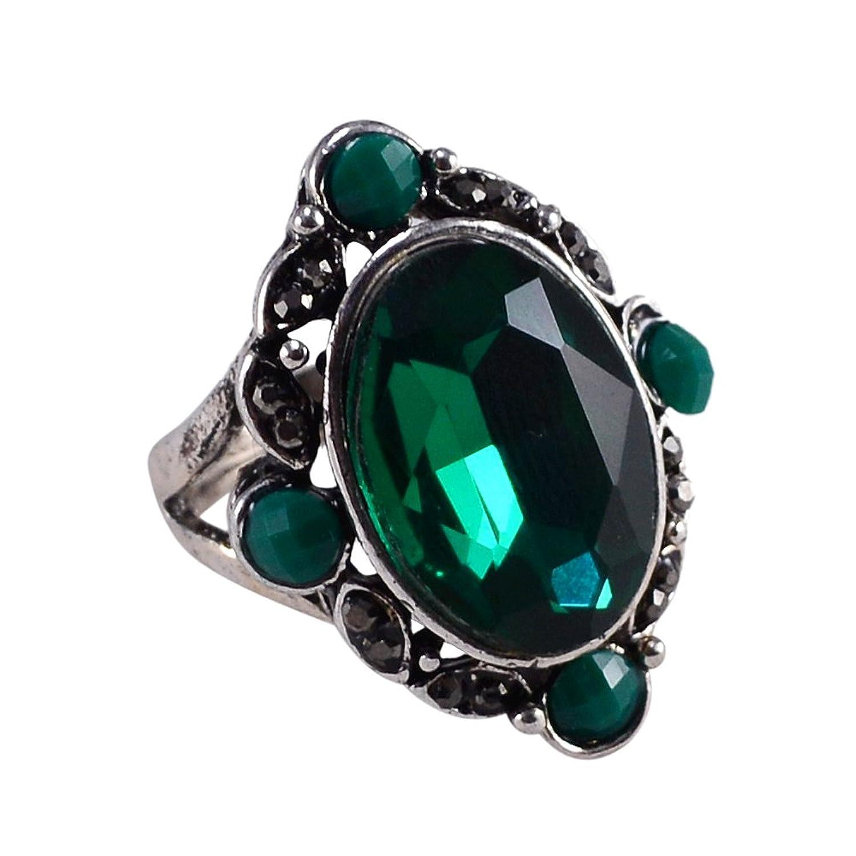 Silvestoo Jaipur Green Quartz & Green Onyx Ring Sz 8 PG-107340