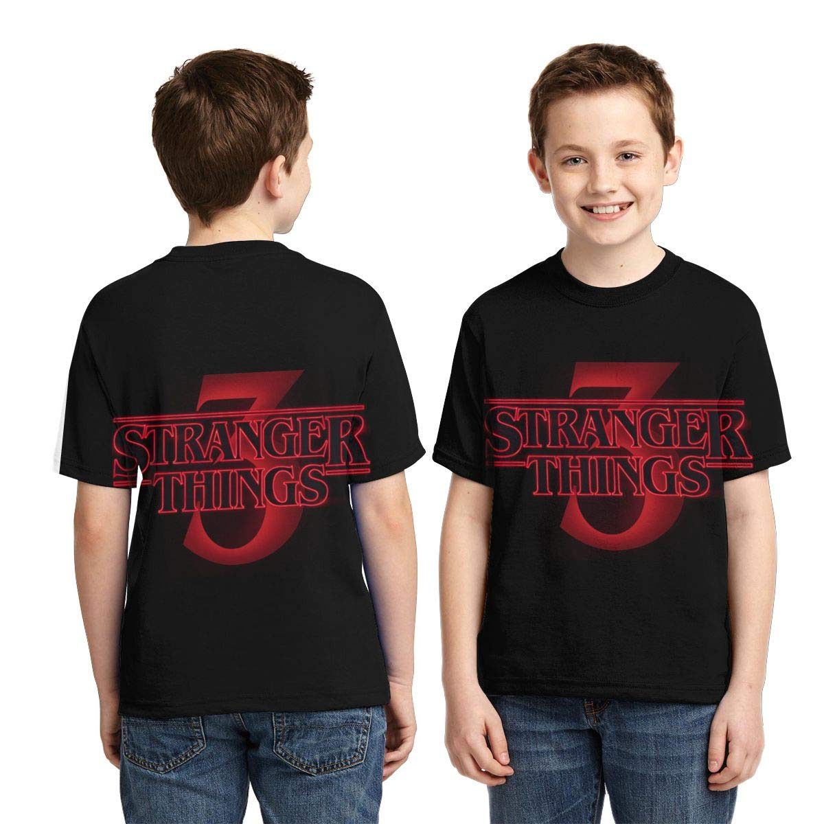 Hatstng Stranger Things 3 Poster Boys Girls 3D Print Crew Tee Youth Short Sleeve T-Shirt Tanks Tops