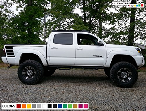 Decal Graphic Vinyl Rear Sport Bed Stripe Kit Compatible with Toyota Tacoma 2004-2017 (Vinyl Graphic Kits)