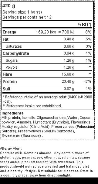 Prozis Diet Bar 12x35g - Delicioso Aperitivo Brownie de Chocolate - Rico en Proteína y Bajo en Hidratos de Carbono y Azúcares - Ideal para las Dietas de ...