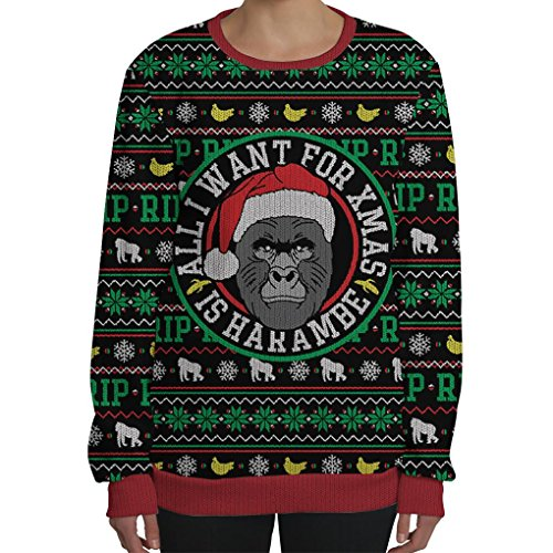 beloved shirts all i want for xmas is harambe sweatshirt