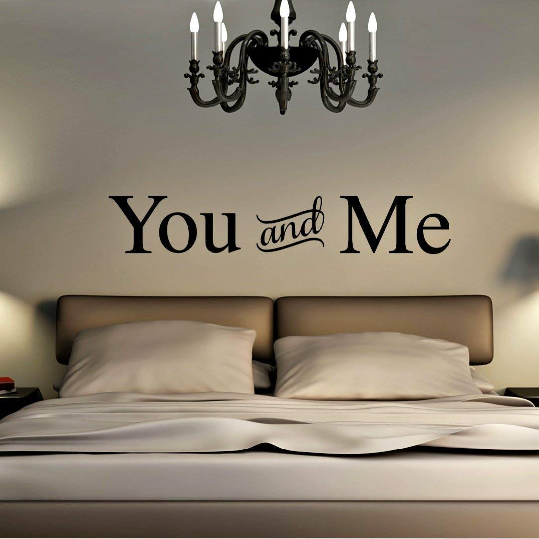 Amazon.com: You Me Vinyl Decal, Above The Bed Wall Stickers ...