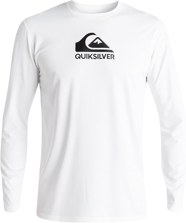 Quiksilver Young Men's Sportswear Solid Streak Long Sleeve Rashguard Swim Shirt UPF 50+