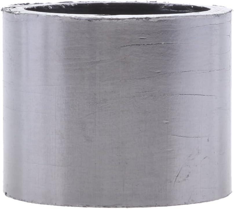 H HILABEE Universal Metall Dichtung f/ür Auspuff Abgasrohr Hosenrohr Flexrohr Schwarz 28mm Rostfrei
