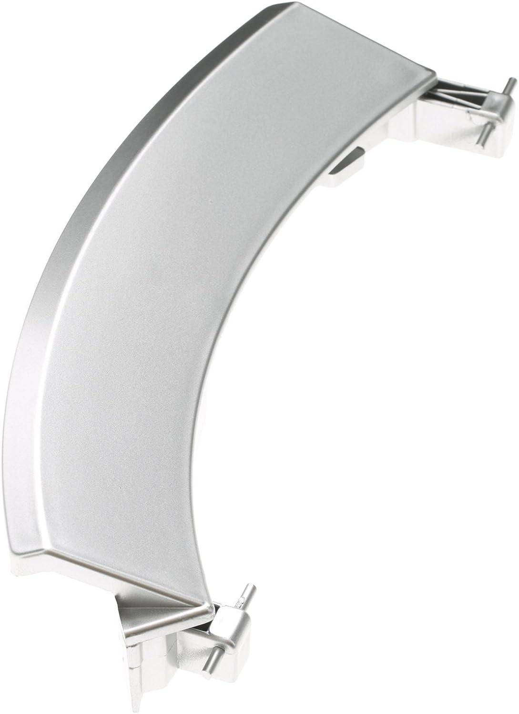 Qualtex plata Reemplazo tirador de puerta para Bosch lavadoras