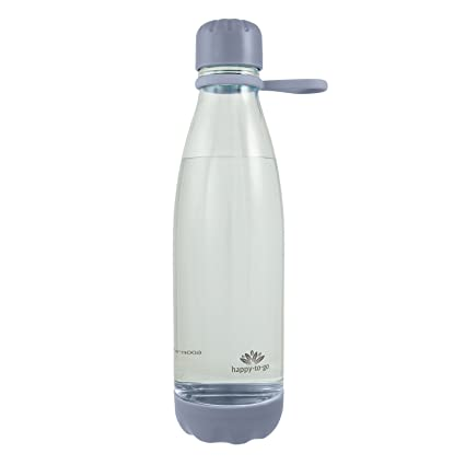 happy-to-go Botella de Bebida sin plastificante (sin BPA) para Fitness y Yoga