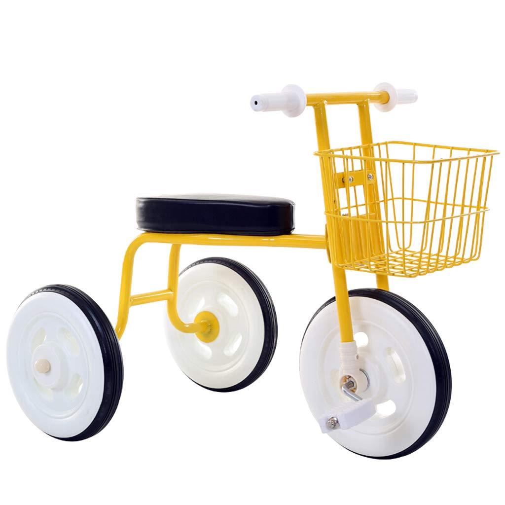 子供の三輪車の赤ちゃんの自転車の男の子の女の子のおもちゃの車2-5歳の赤ん坊の車輪大きな車輪 (色 : イエロー いえろ゜)  イエロー いえろ゜ B07K5R2J5C