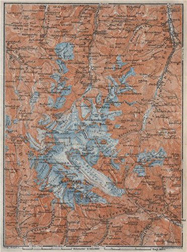 Großglockner Karte.Glocknergruppe Grossglockner Topo Map Austria ã Sterreich Karte