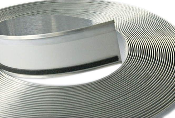 "USA 3.46/"" x 164/' 0.024/"" Brushed Silver Aluminum Trim Cap with PC/&Foam-Channelume"