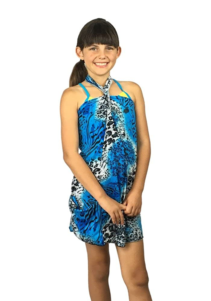 Kimberly Rosa Dressed'n-case® Kids Cover-up & Bag in One! Multi-wear Dress: Blue