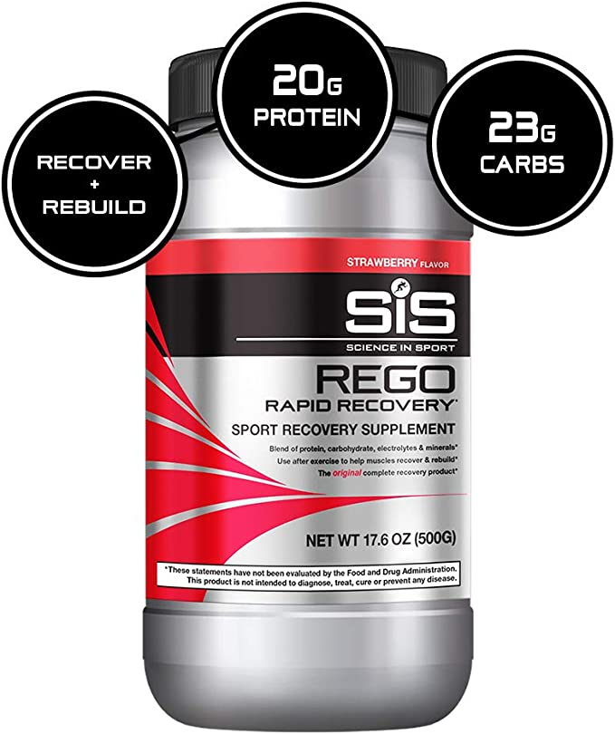 Amazon Com Science In Sport Rego Rapid Recovery Post Workout Protein Drink 23g Carbohydrates Electrolytes With Vitamins 20g Soy Protein Isolate Full Spectrum Of Nutrients Strawberry 1 25lbs Health Personal Care
