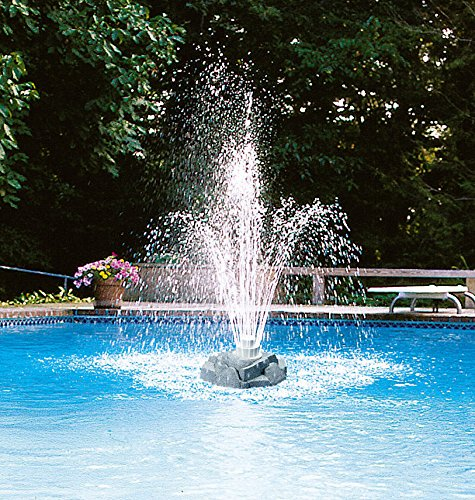 (New Grecian Triple 3 Three Tier Rock Floating Outdoor Swimming Pool Fountain)